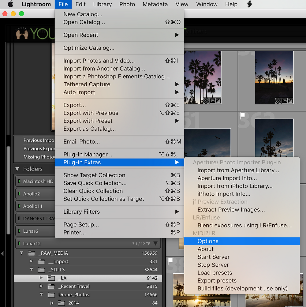 File >> Plug-In Extras >> Load Presets