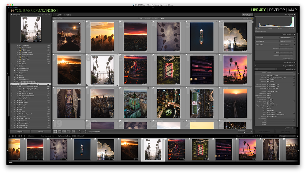 Lightroom Modules and Workspaces