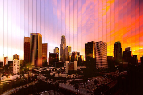 Los Angeles Time Slice 20x30 Mounted Acrylic