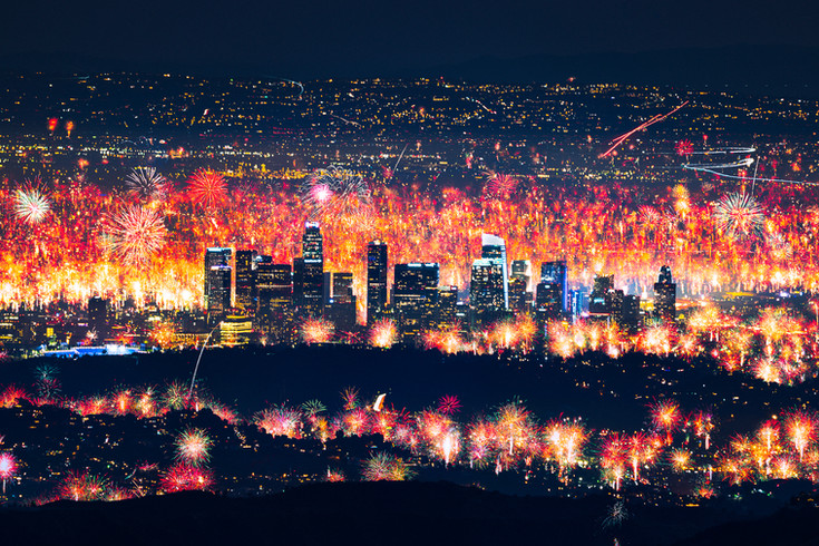 Los Angeles illegal firework show 2020