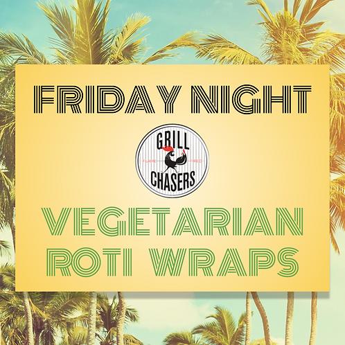 Vegetarian Roti Wraps (Green Ticket)
