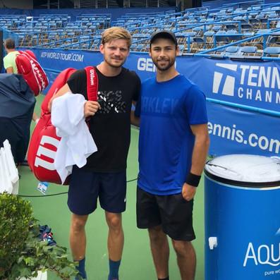 Brandon Larsen with David Goffin