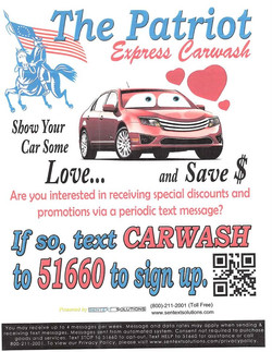 The Patriot Express Car Wash