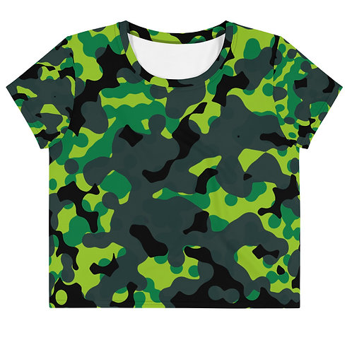 Green Frog | Women's Crop Tee