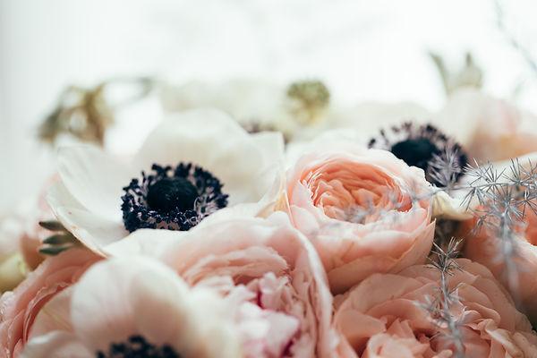 Bohemian wedding bouquet with beautiful