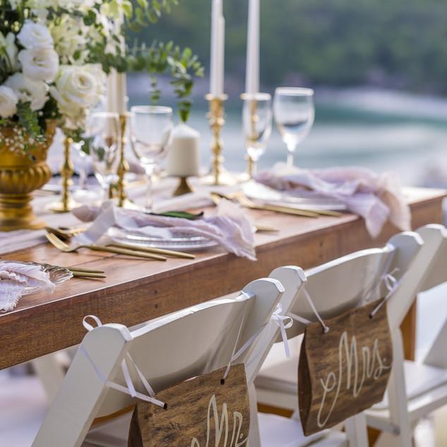 Boho Style Theme Romantic Wedding Table