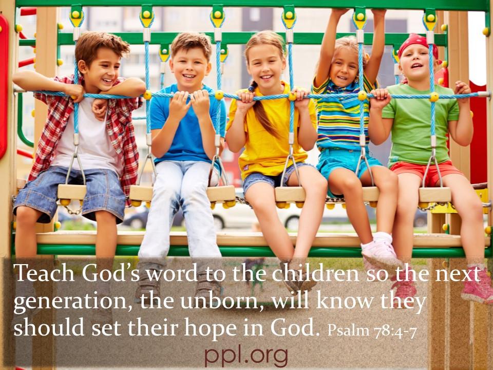 Psalm 78:4-7