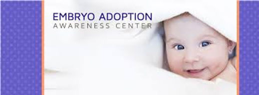 Embryo adoption Awareness Center banner.