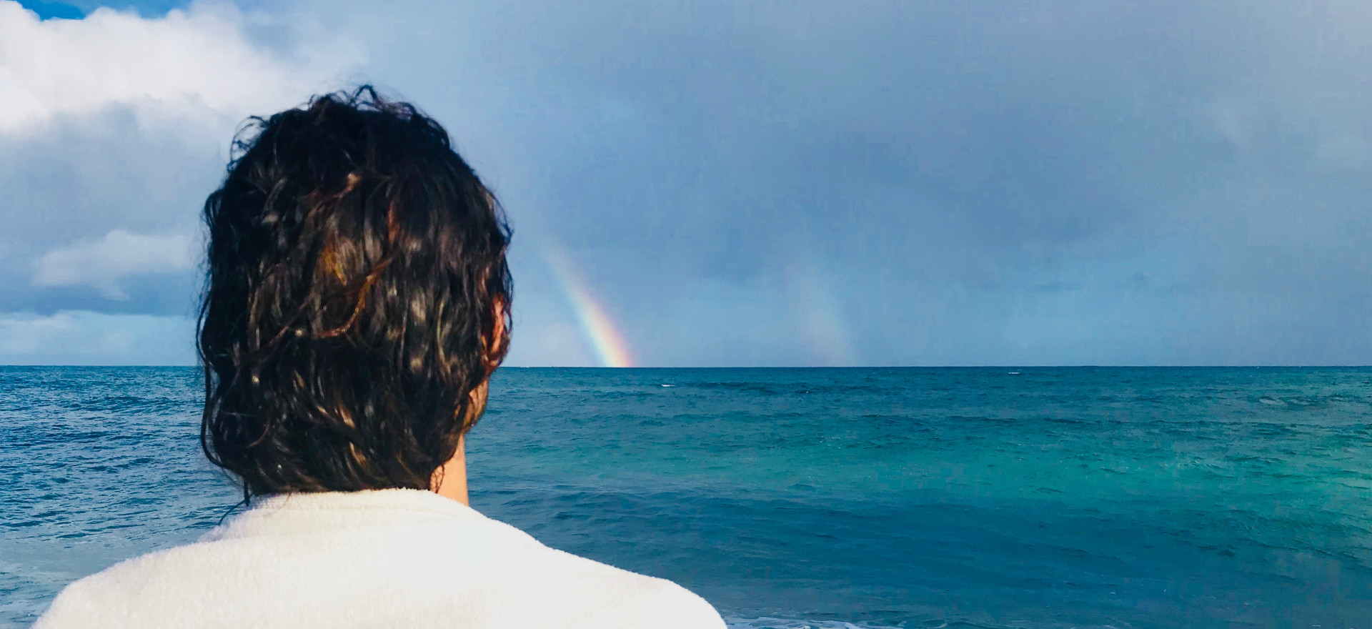 """""""I knew a miracle was taking place as I saw a double rainbow formed off the coast during my SeaHealings Shamanic Journey in nature it completely transformed my life. I am feeling so much lighter it was truly magical""""    Arnesto - North Shore Maui"""