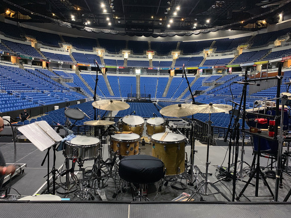 Drumset para Capó en el Coliseo