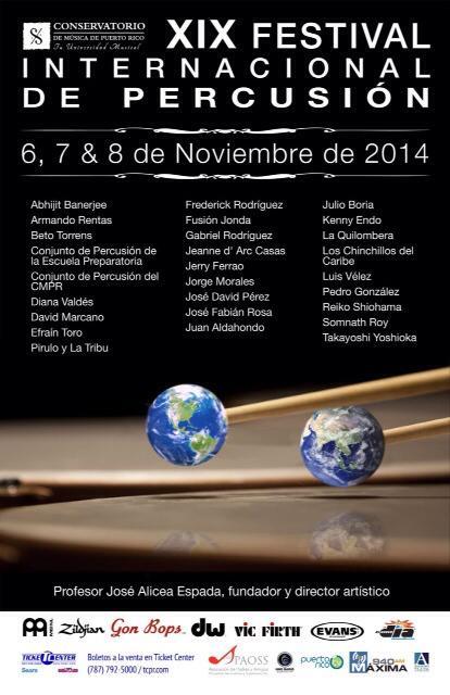 Todo listo para celebrar la XIX Edición del Festival Internacional de Percusión