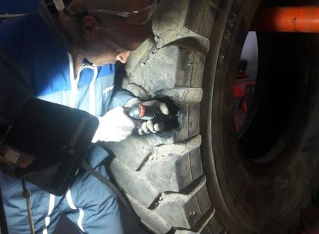 Коллеги из Франции на обмене опытом по ремонту шин
