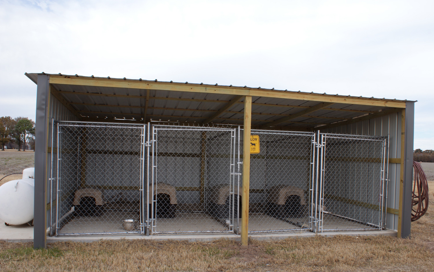 Covered Dog Kennels