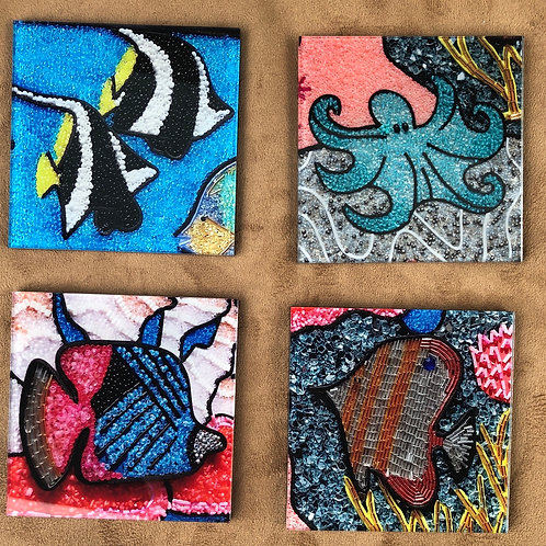 Fish Coasters - set of 4