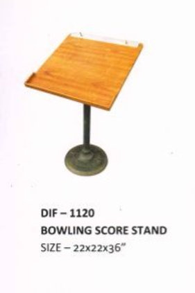 Cast Iron Wooden Top Bowling Score Stand