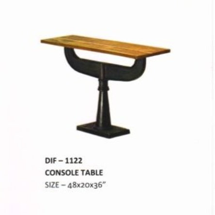 Cast Iron Wooden Top Console