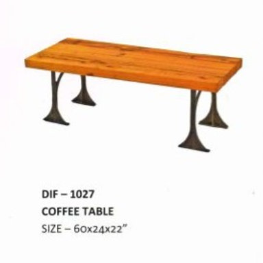 Wooden Top Industrial Coffee Table