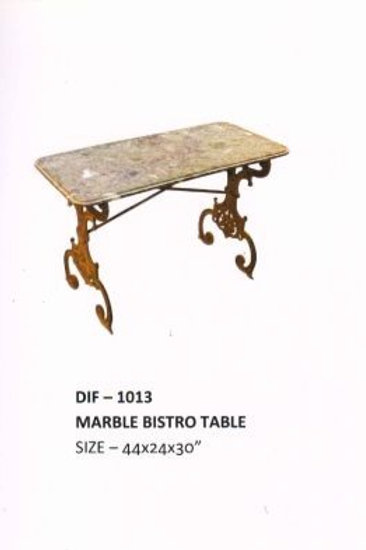 Heavy Duty Industrial Marble Bistro Table