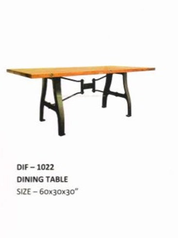 Wooden Top Industrial Dining TablE