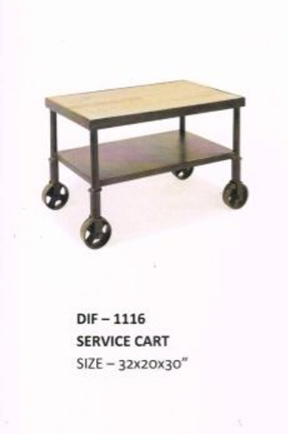 Industrial Serving Cart with Rolling Wheels