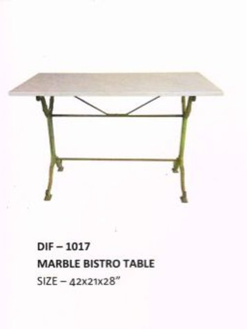 Marble Top Industrial Table