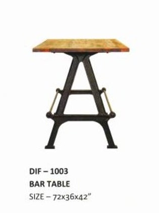 Heavy Duty Industrial Bar Table