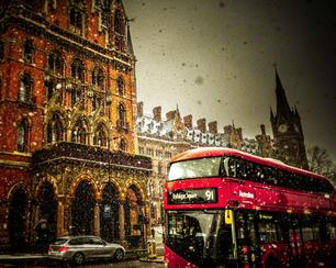 St Pancras Snow