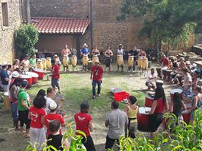 Initiation Batucada lors de l'évènement de capoeira 2018 à Villefranche