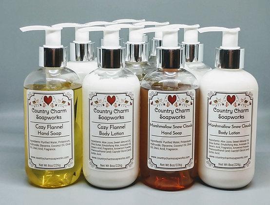 Liquid Soap & Soap/Lotion Sets - 8 oz each