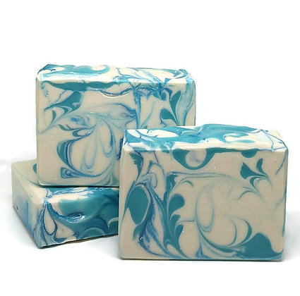 Fragrance Free Blue Swirl Soap - 1 Bar