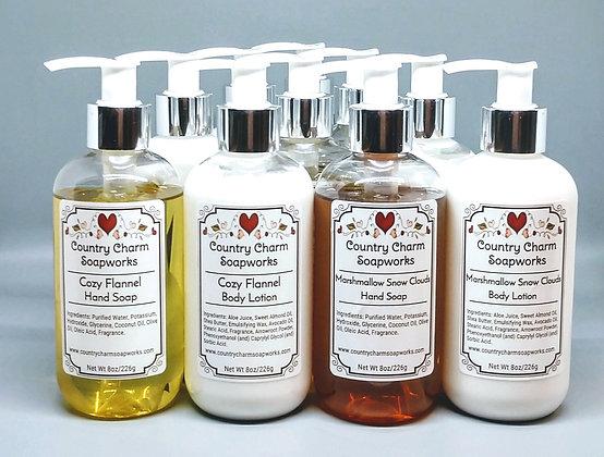 Liquid Soap & Lotion Sets - 8 oz each