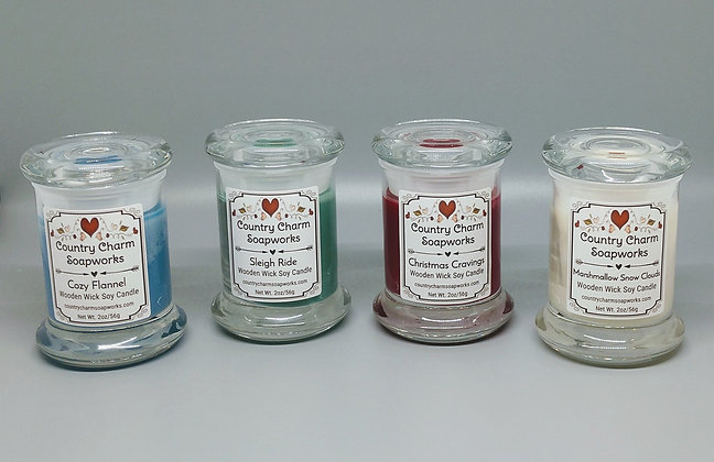 Wooden Wick Soy Candle - 2.5 oz