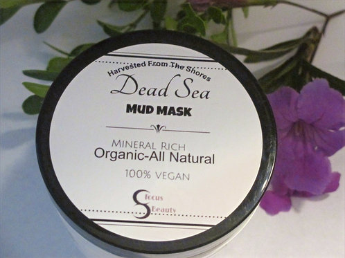 Organic Dead Sea Detoxifying Mud Mask With Essential Coconut & Grape Seed Oil
