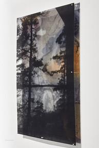 """Cottage screen, detail 17.5 x 15.5"""" framed"""