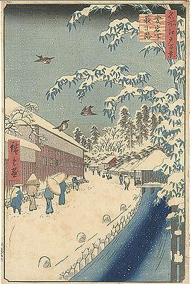 A ukiyo-e print by Hiroshige