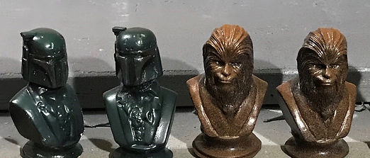 """4"""" Busts- resin"""