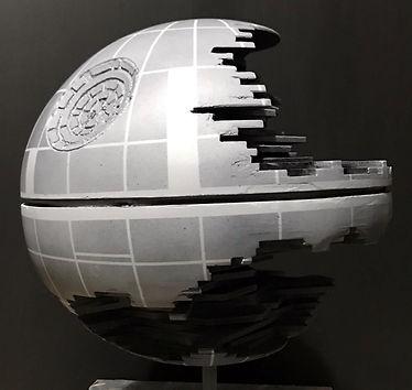 """12"""" Death Star 2- wood, bondo"""