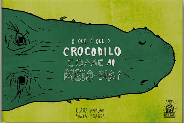 O que é que o crocodilo come ao meio-dia