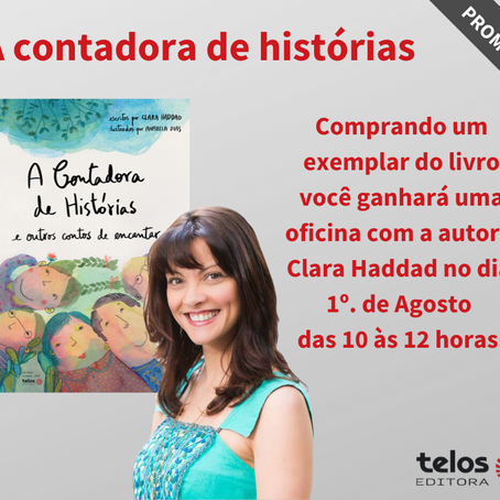 Compre o livro 'A Contadora de Histórias e ganhe um oficina sobre a arte de contar histórias!