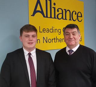Stewart Dickson MLA hosts Work Experience Student from Belfast High School