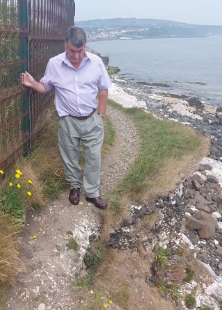Cllr Williams Concerned for Safety on Quarry Cottages Cliff Path Whitehead