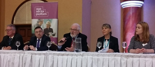Stewart Dickson MLA (Centre) answering q