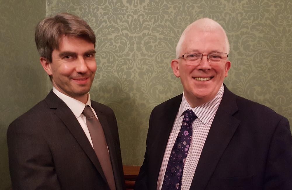 East Antrim Alliance Candidates Danny Donnelly (left) Stewart Dickson MLA (right)