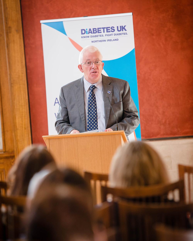 Stewart speaks at Diabetes event