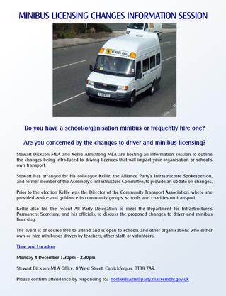 Minibus Licensing Changes Information Session - 4 December