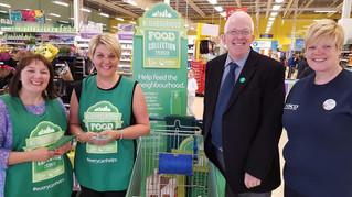 Dickson Supports Trussells Carrickfergus Foodbank Fund Raising Day at TESCO