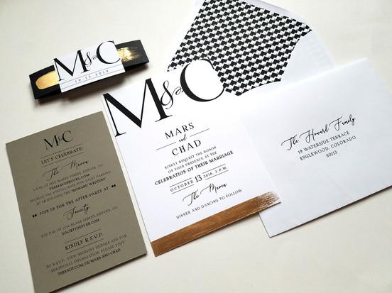 Modern Denver Wedding: Mars & Chad
