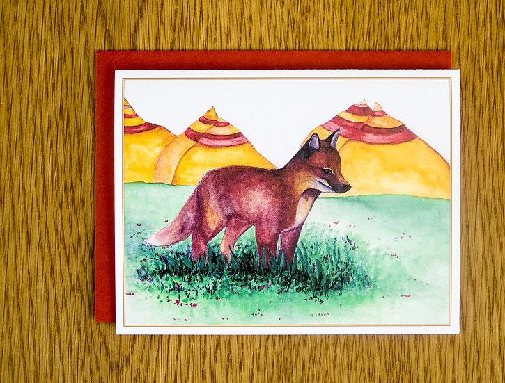 Swift Fox Note Card