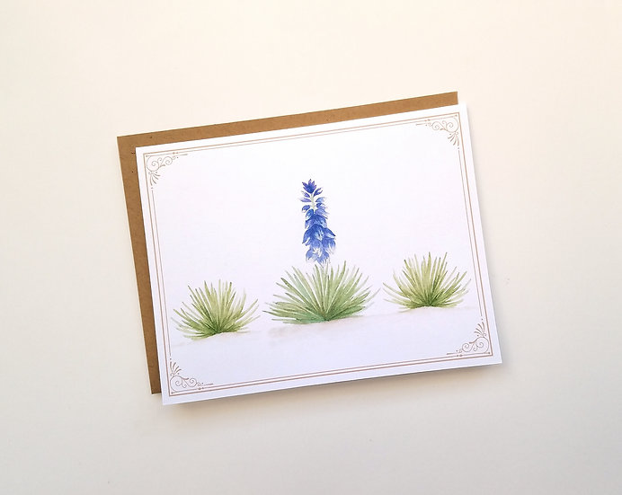 Yucca Desert Plant Note Card