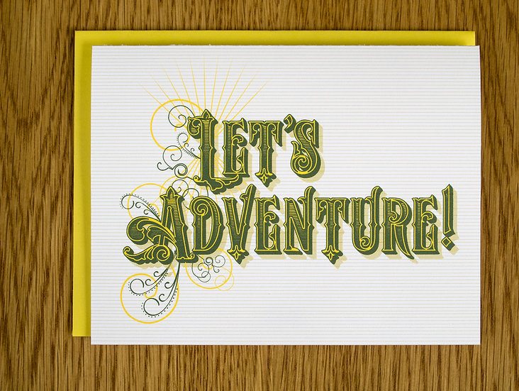 Let's Adventure! Note Card